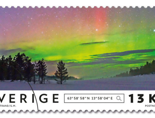 Northern Light photos as Stamps