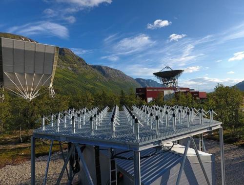 EISCAT facility in Ramfjordmoen, Tromsø, Norway