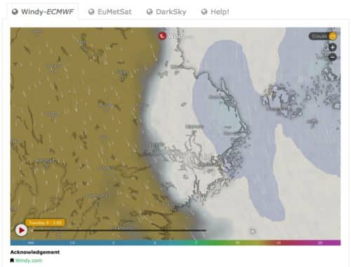 New weather map and new model.