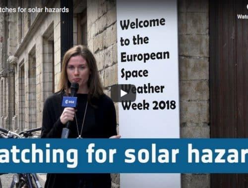 ESA watches for solar hazards (Video)