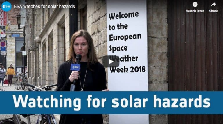 ESA watches for solar hazards (Video)